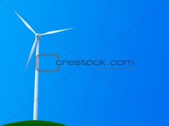 Lone wind turbine