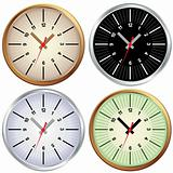 Set of metal clock