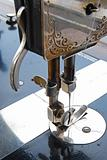 Old sewing machine details