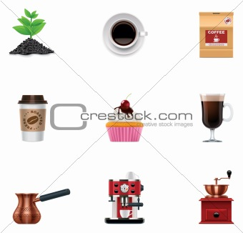 Vector coffee icon set