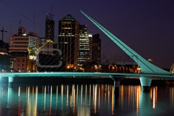 Bridge of the woman, Buenos Aires