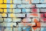 Painted brick wall