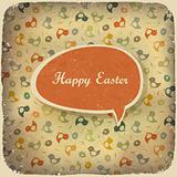 Easter vintage background. Vector illustration.