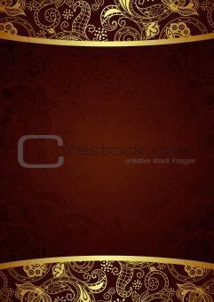 Abstract Menu Cover