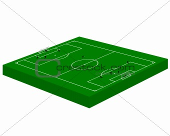 green football field