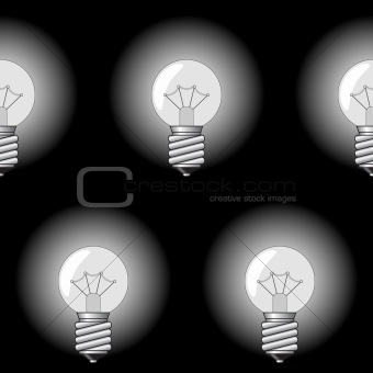 Background with electrical a sphere-form lamps