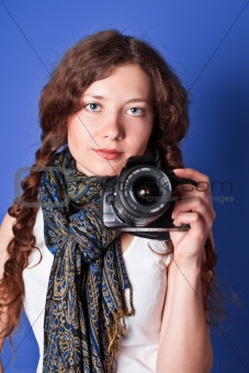 beautiful woman-photographer