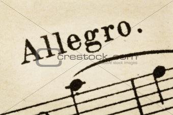 allegro - fast music tempo