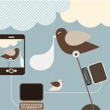 Social Network - vector illustration