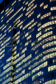skyscraper office windows