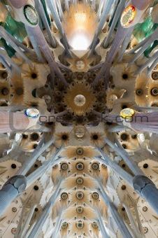 Sagrada familia's roof in Barselona