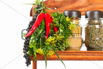 Bouquet of fresh spice