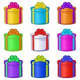 Gift box round