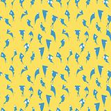 Seamless wallpaper funny blue characters