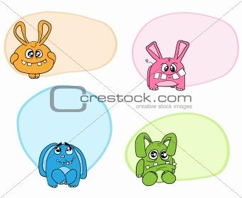 four funny bunny