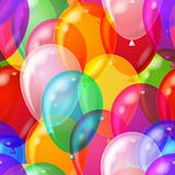 Balloon background seamless