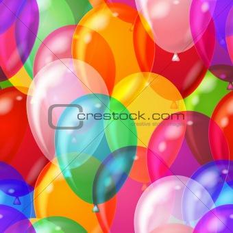 Balloon background seamless