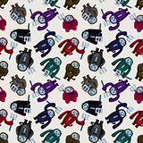 cartoon halloween ghost seamless pattern