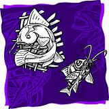Sea fishes - vector illustration