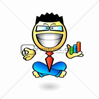 Business yoga smiley