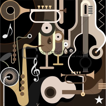Music Background - abstract vector illustration