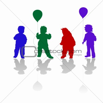 little children silhouettes