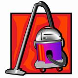 retro vacuum cleaner clip art
