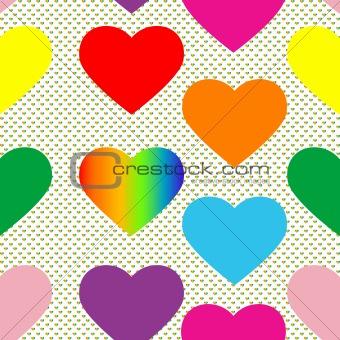 valentine hearts pattern