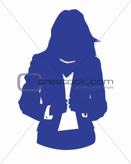 woman office avatar blue