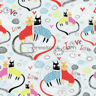pattern of cat lovers