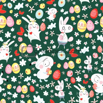 bright texture of the Easter bunnies