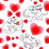 love pattern with animals