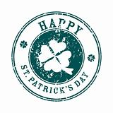 saint patrick's day greeting stamp