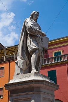 Guercino Statue. Cento. Emilia-Romagna. Italy.