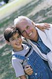 Mature man and boy