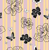 seamless wallpaper flowers and butterflies