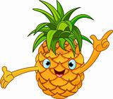 Cheerful Cartoon Pineapple character