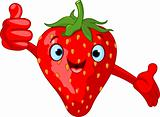Cheerful Cartoon Strawberry character