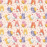 rabbit holiday seamless pattern