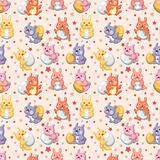 rabbit holiday seamless pattern