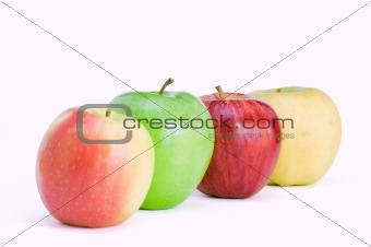 Four different apples