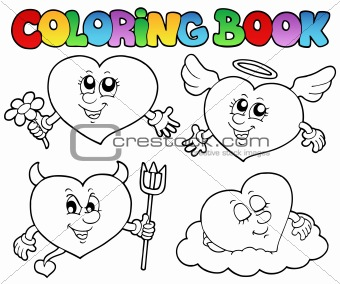 Coloring book hearts collection 2