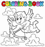 Coloring book Valentine theme 1