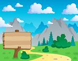 Mountain theme landscape 2