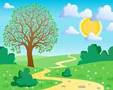 Spring theme landscape 1