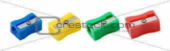 Four different colors sharpener