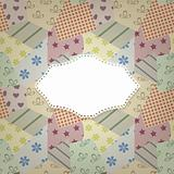 vector seamless retro pattern and napkin for your text