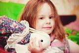 happy little girl  indoor
