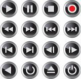Multimedia icon/button set