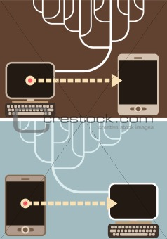Computer Connection - vector illustration